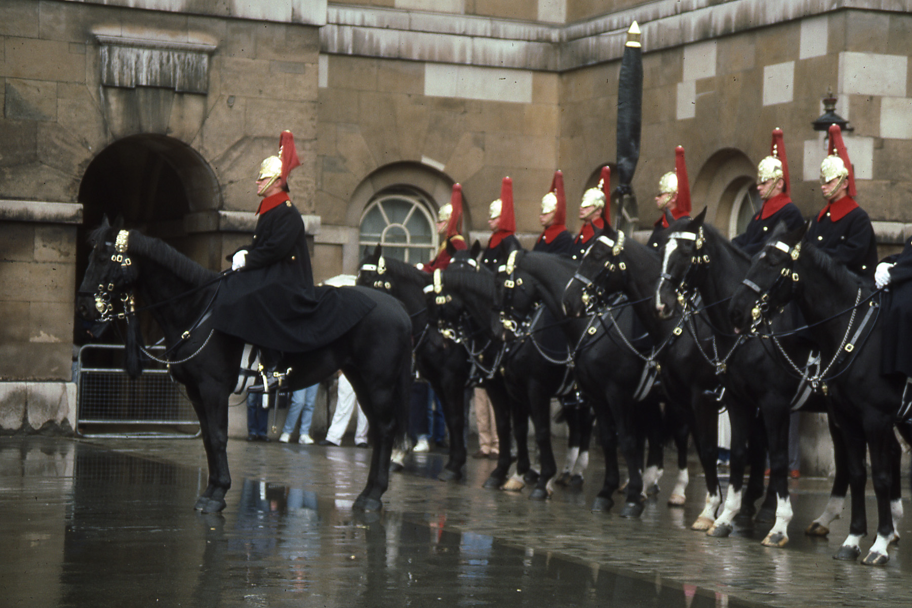 Manly Men wear their uniforms with pride and purpose, Manly horses too. London 1989- challen