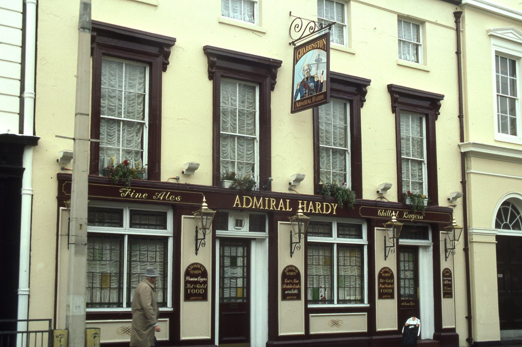 Let's go into the Admiral Hardy Pub and have a talk over a beer. - London 1989 photo by Challen Yee