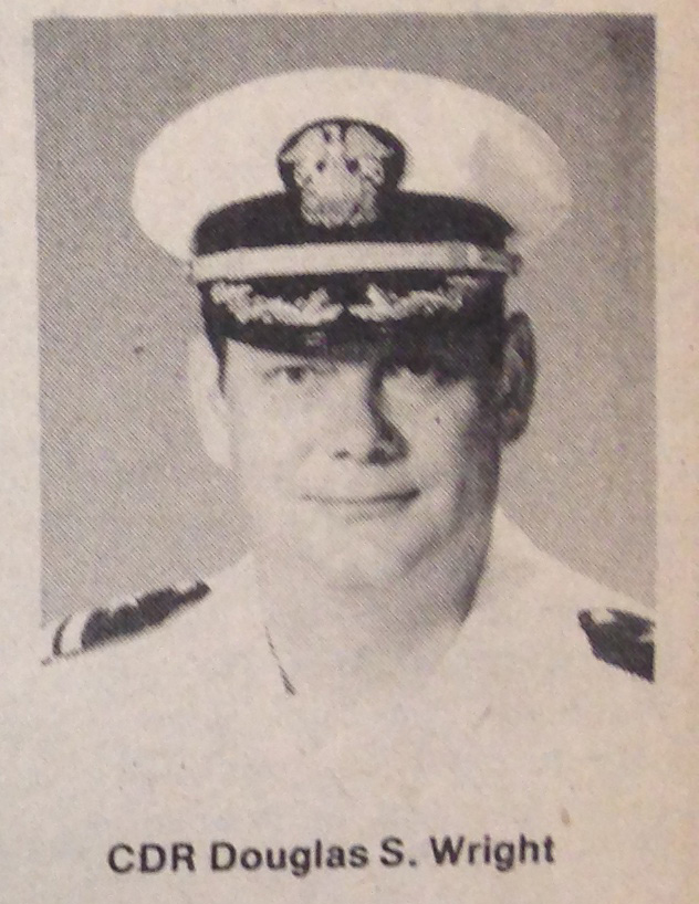 "Captain Douglas S. Wright- source ""Patrol"" (A submarine base Pearl harbor newpaper)."