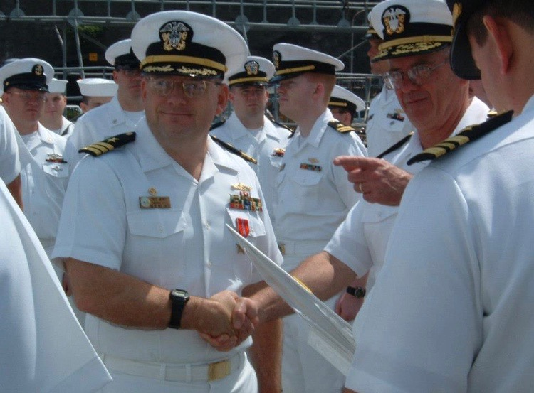 Cmdr. Merkel awarded the Bronze Star Award